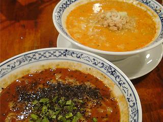 白胡麻担々麺&黒胡麻担々麺