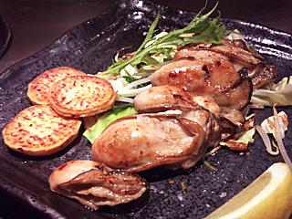 牡蠣の鉄板焼き♪