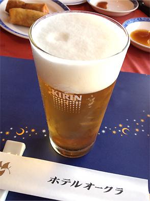 まずはビール♪