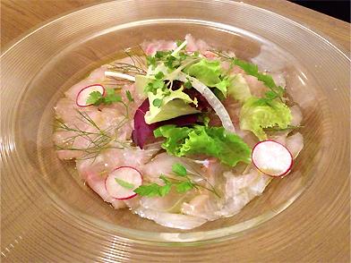 高知産金目鯛のカルパッチョ